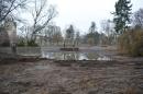 Bauarbeiten im Gemeindepark Lankwitz