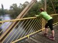 Lauf am Stichkanal Bruecke Lichterfelde