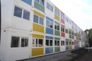 In Continerbausweise wurde die Flüchtlingsunterkunft am Hohentwielsteig errichtet.