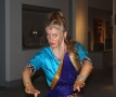 Carolin Gödeke tanzte die Sage von Durga und dem bösen Geist.