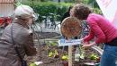 Vor der Passage konnten Freiwillige sich in Urban Gardening ausprobieren.