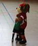 Icke, das Maskottchen des Berliner FußballVerbands tröstete auch mal bei einem Gegentor.