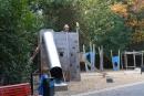 Der Spielplatz wurde nach achtmonatiger Sanierung wiedereröffnet.