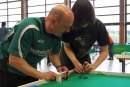 Thomas Bittmann und sein Sohn Marco legten 680 Kilometer für das Turnierwochenende zurück.