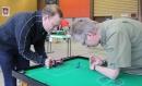 Michael Grützner und Matthias Hadon trainierten gemeinsam vor den Spielen.