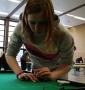 Melanie Grämmel hatte die Damenmeisterschaft im Visier.