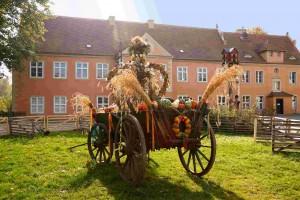 Bunt geschmückt sind die Wagen zum Erntefest. Archiv-Foto: K. Wendlandt