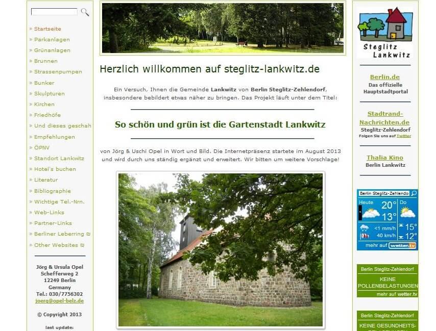 So schön ist Lankwitz: Ehepaar Opel will mit neuer Internetseite seinen Ortsteil vorstellen