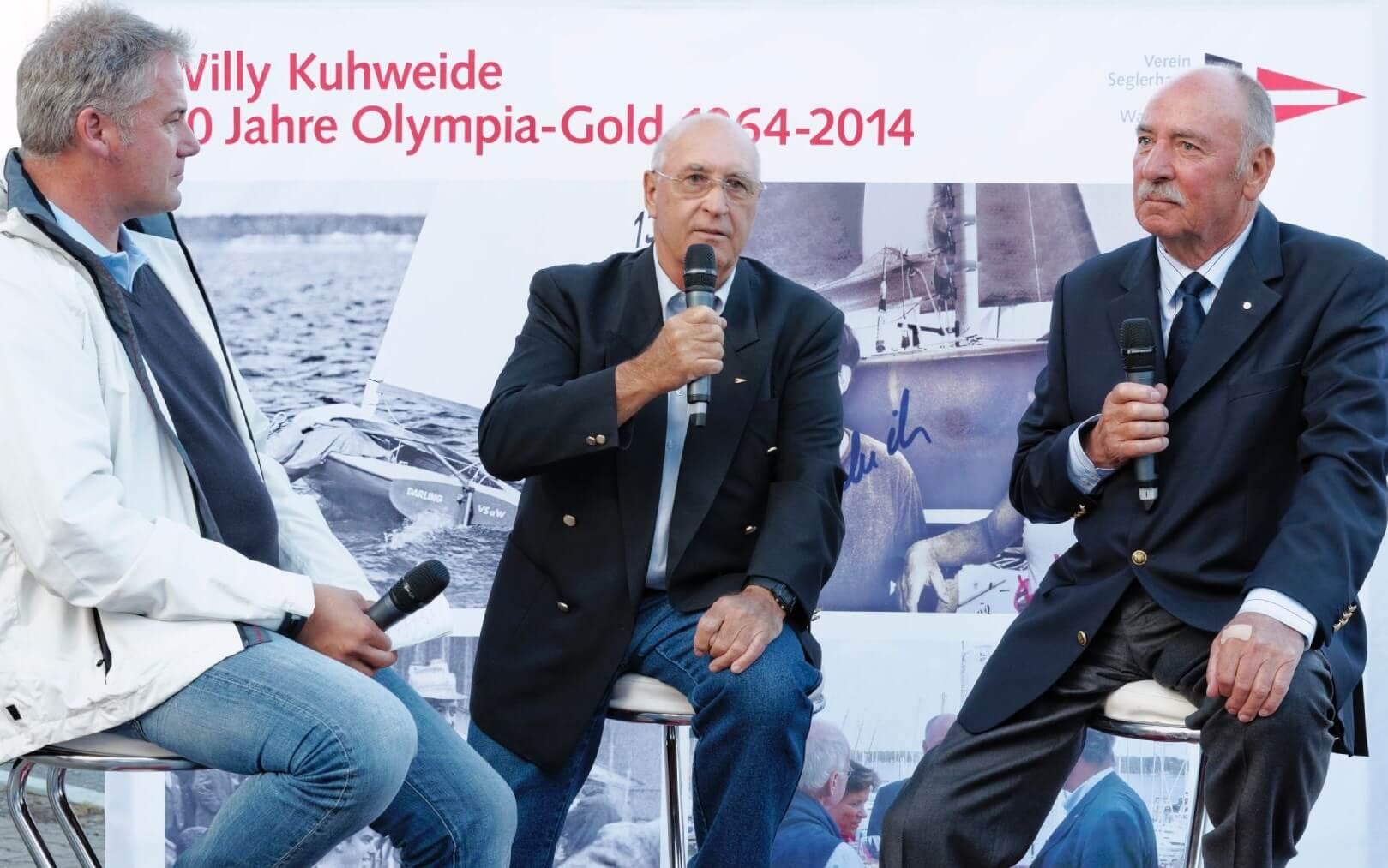 Gänsehautstimmung am Wannsee: Willy Kuhweide und Bernd Dehmel feiern 50 Jahre Olympiagold