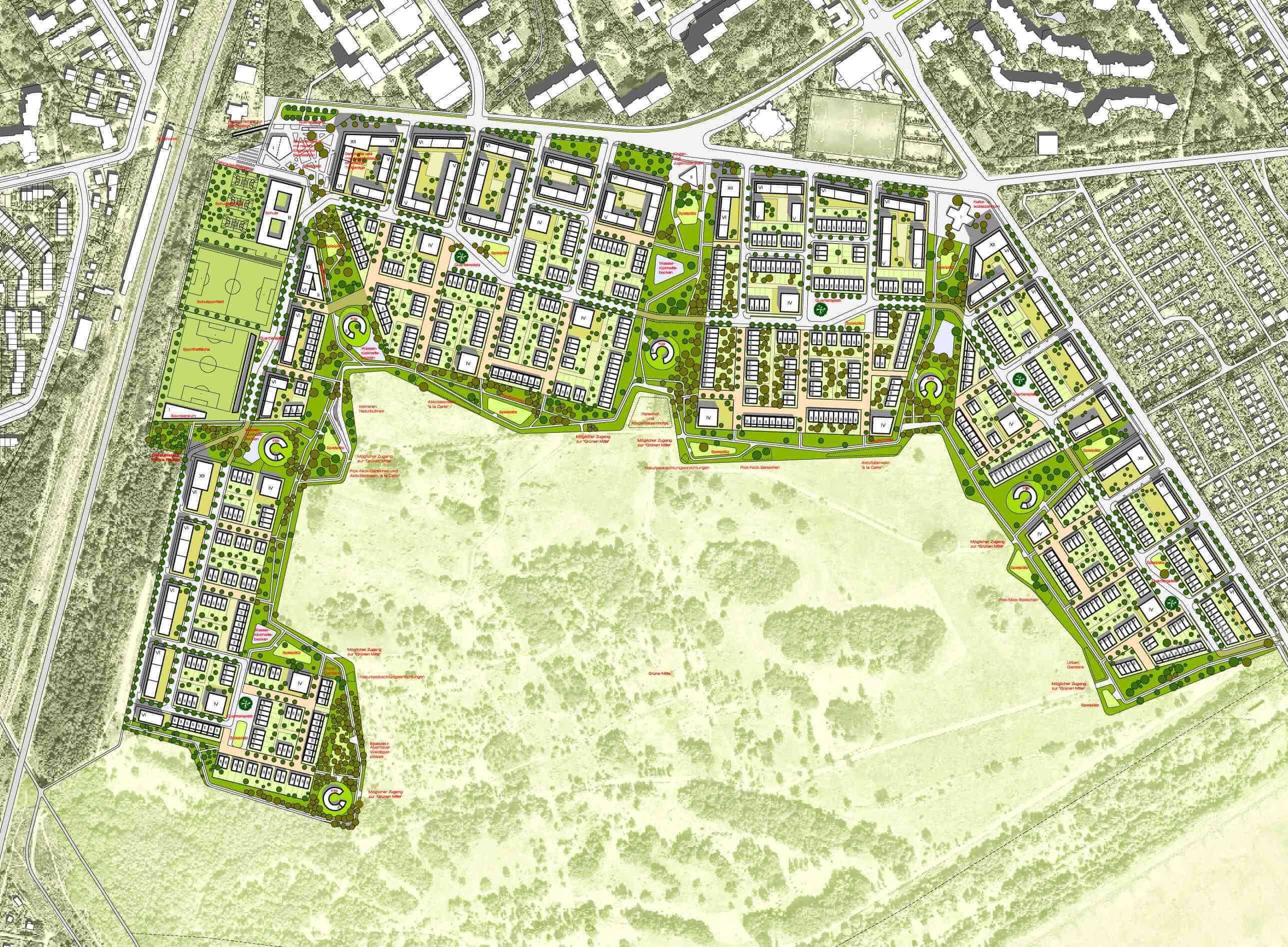 Synthese zwischen Naturerlebnis und Wohnbebauung: Groth Gruppe und Bezirksamt stellen Masterplan für Parks Range vor