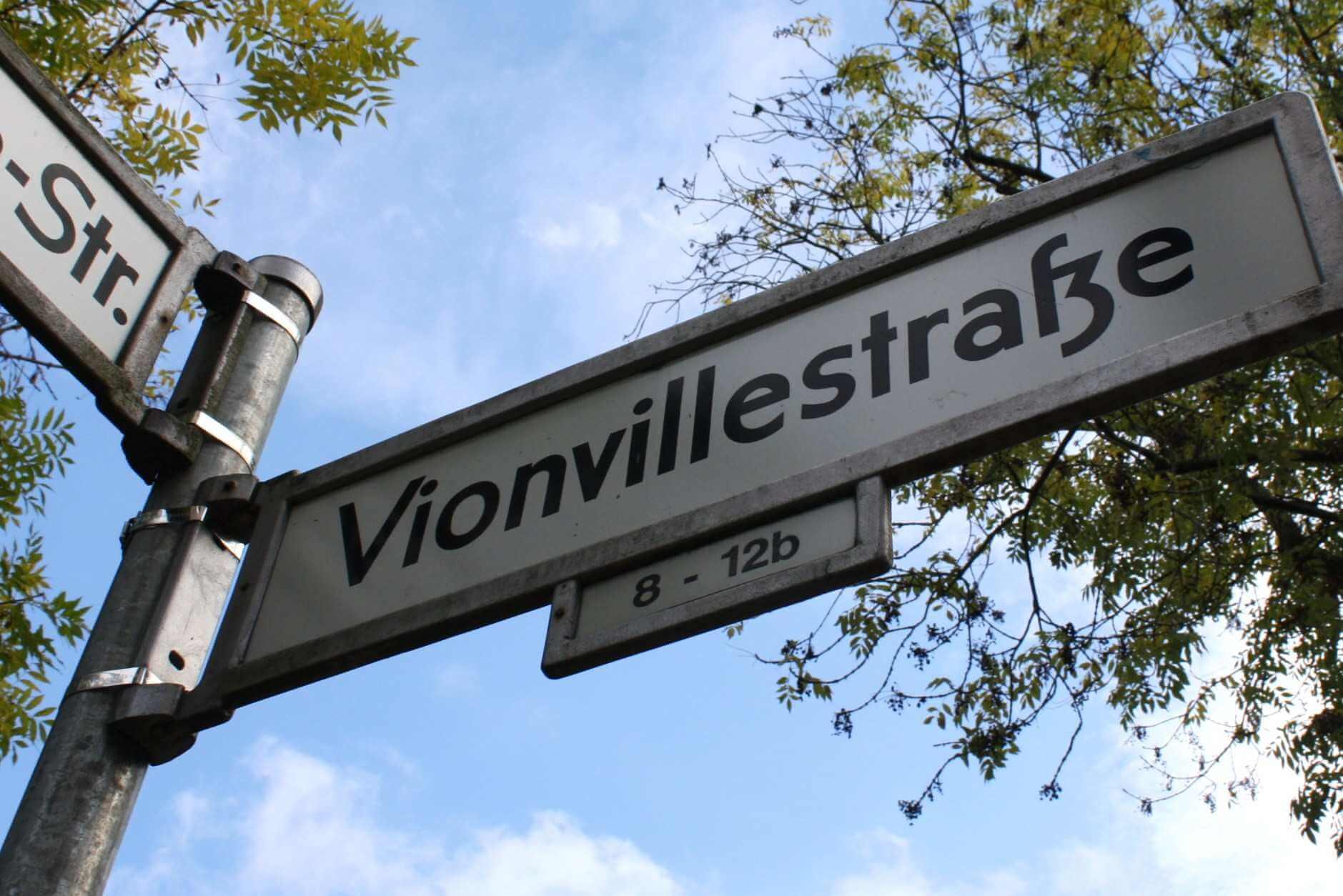 StraßenABC: V wie Vionvillestraße