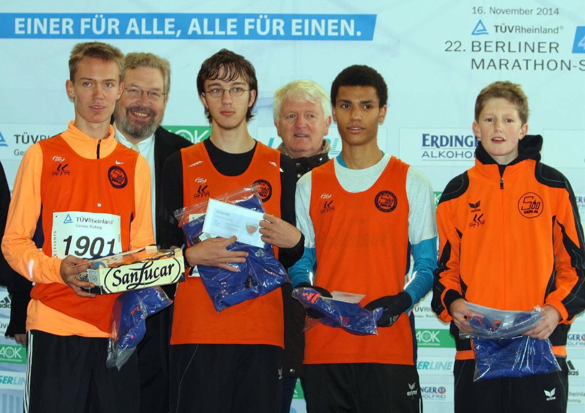Platz 1 und 2 für die jugendlichen LG Süd-Staffeln bei Berliner Marathon-Staffel