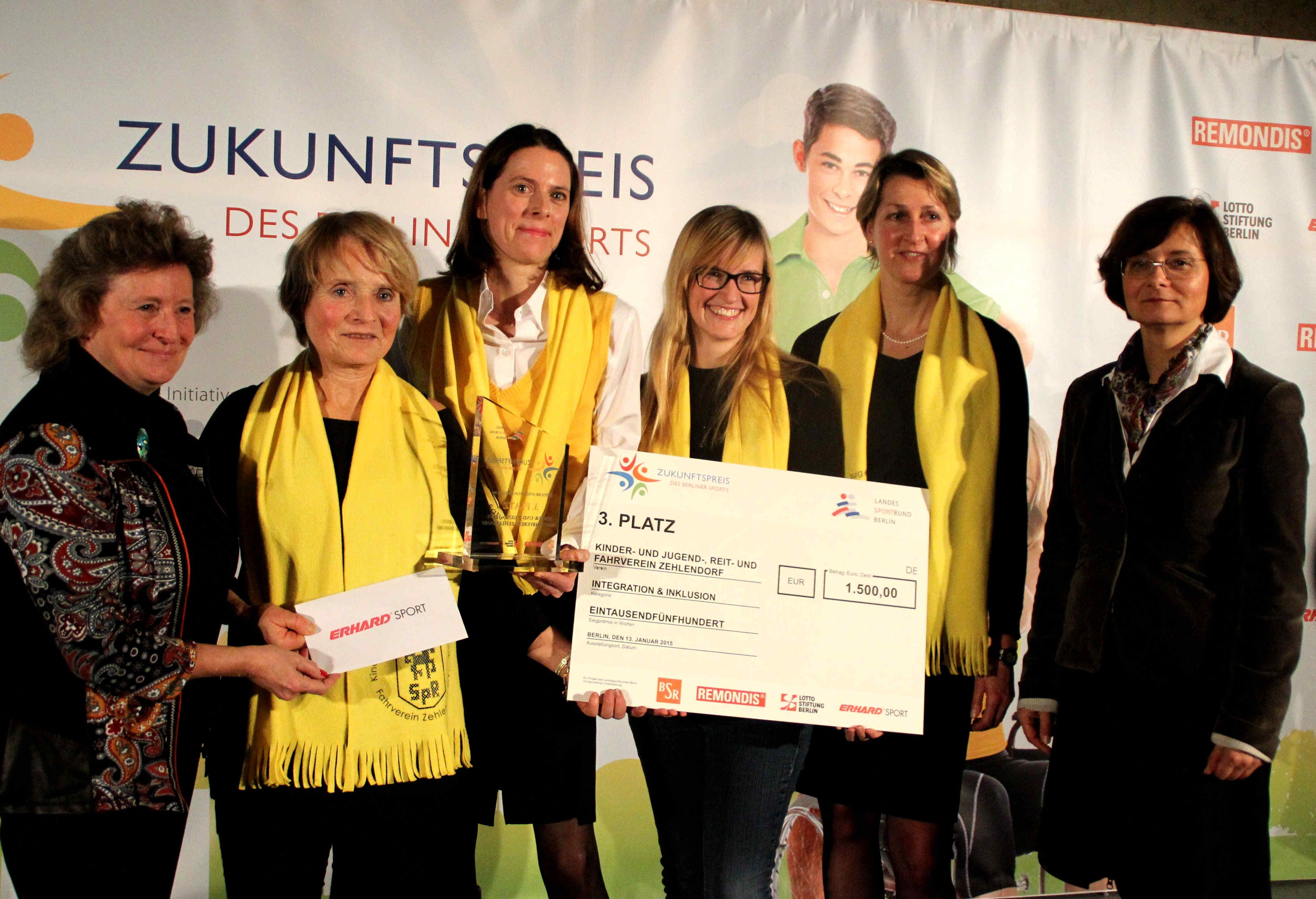 """""""WegberREITER"""" für die Inklusion: KJRV mit Zukunftspreis des Berliner Sports ausgezeichnet"""