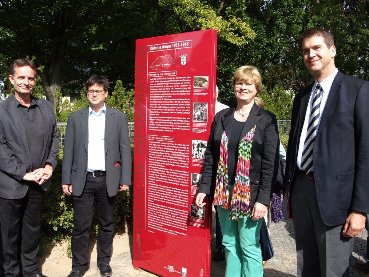 Erinnerung an großbürgerlichen Villenvorort: Stele zur Kolonie Alsen enthüllt