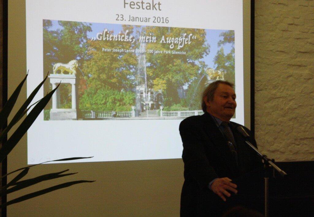 Peter Franz Friedrich Lenné wünschte des Festjahr viel Erfolg. Foto: Gogol