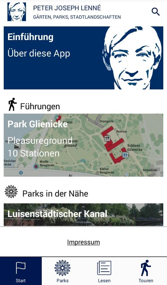 Die Lenné-App kann im Google Play Store heruntergeladen werden. Foto: Kulturmanagement-Berlin