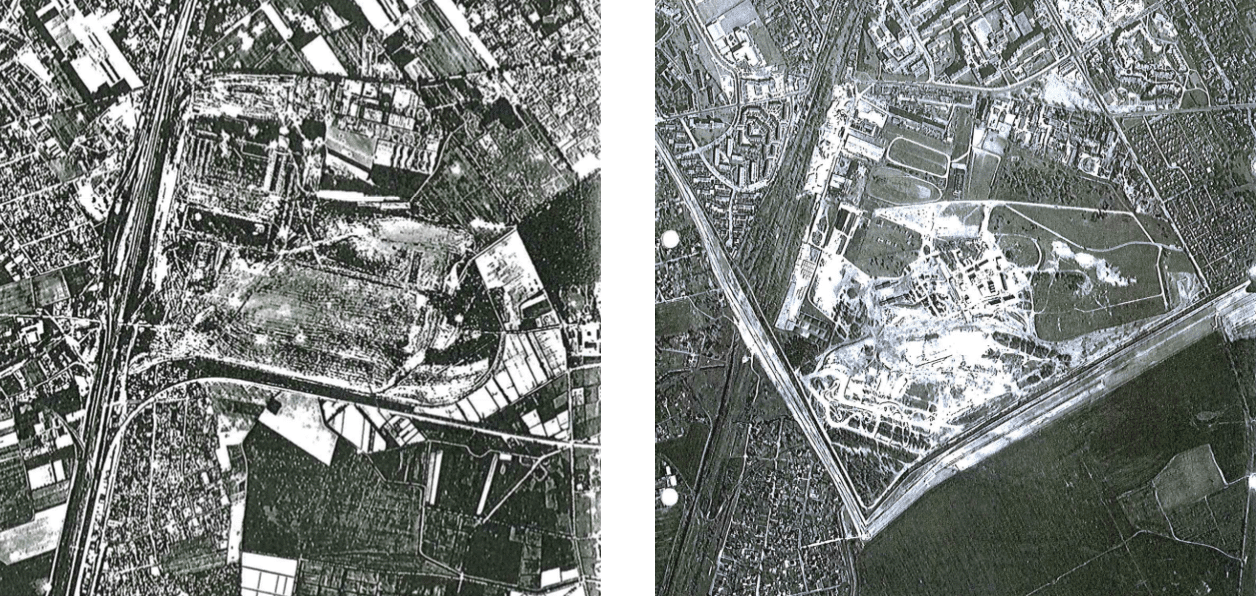Abbildung 3. Luftbild 1944 (Royal Air Force) Abbildung 4. Luftbild 1984 (SenBauWohn Abt. V)