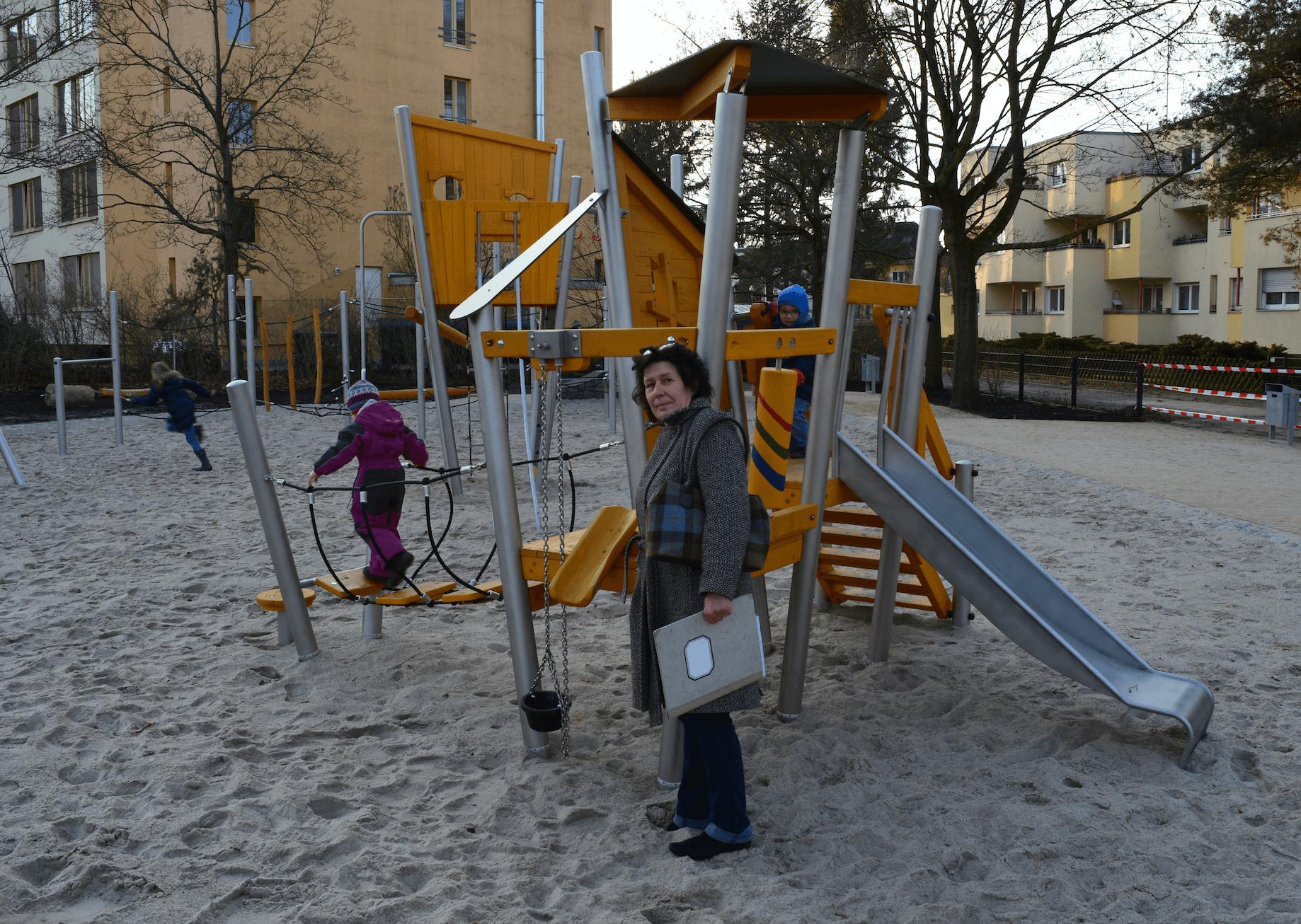 Spielplatz in Zehlendorf wiedereröffnet