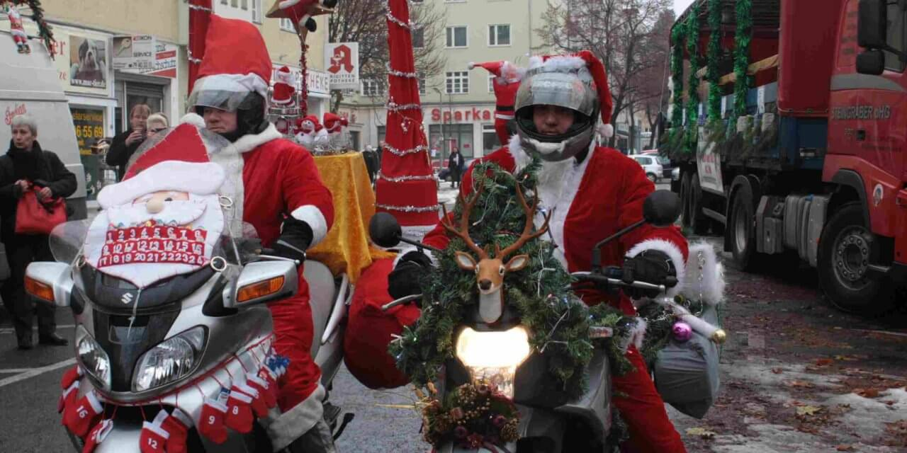 Christmas-Biker wieder auf Tour durch Berlin