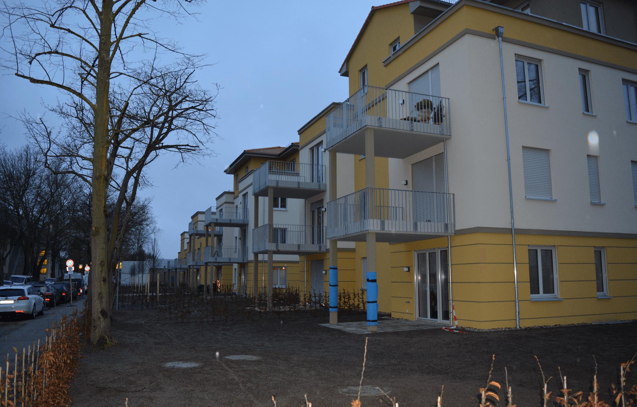 So gut wie fertig: Neue Wohnanlage in Lichterfelde West