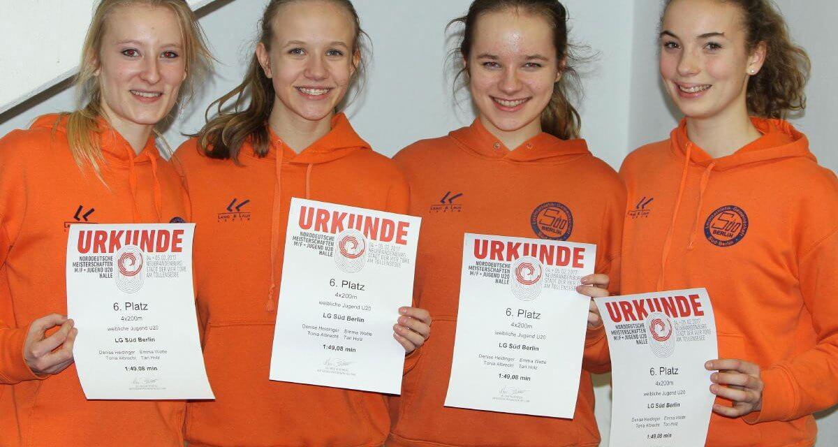 Platz 6 für die LG Süd Mädchen bei den Norddeutschen Meisterschaften