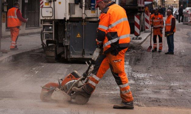 Straßenbauarbeiten in der Schloßstraße