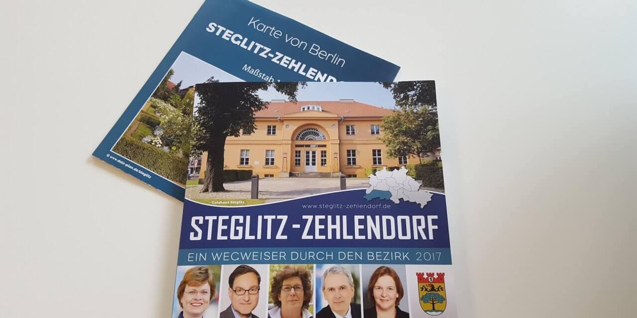 Bezirksbroschüre Steglitz-Zehlendorf liegt ab sofort wieder kostenlos aus