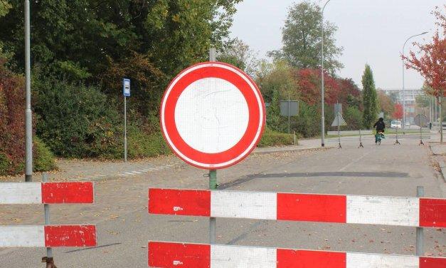 Abzweig Steglitz zur A100 nachts gesperrt