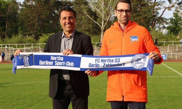 Hertha 03 Zehlendorf und Hertha BSC starten eine Kooperation im Nachwuchsbereich