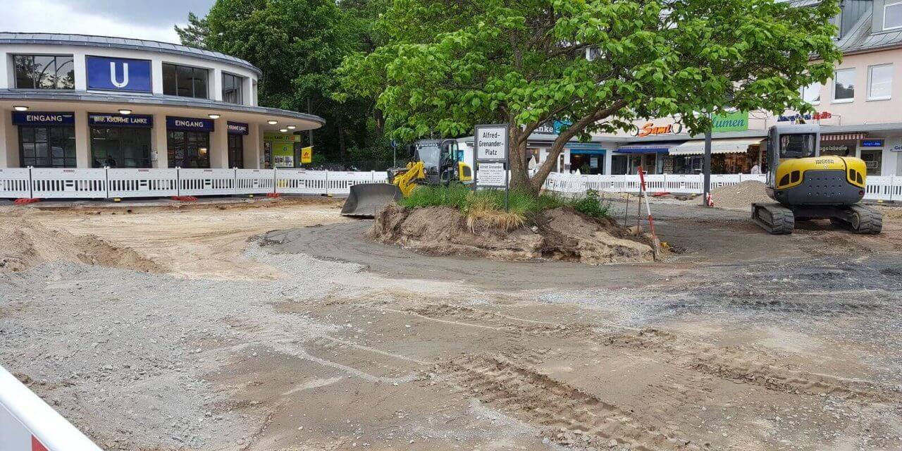 Platz vor dem Bahnhof Krumme Lanke wird umgestaltet