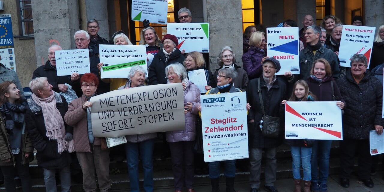 Mieterinitiative kämpft um Milieuschutzgebiete in Steglitz-Zehlendorf
