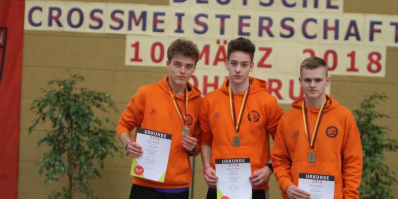 U18-Crosslauf-Team der Männer der LG Süd Berlin holt Bronze bei Deutschen Cross-Meisterschaften