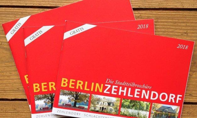 Druckfrisch: Stadtteilbroschüre Berlin-Zehlendorf liegt ab sofort aus