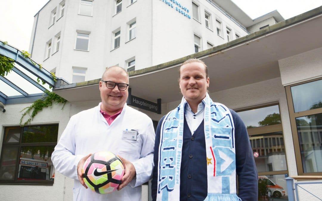 Bethel-Krankenhaus und FC Viktoria 1889 kooperieren auch in der nächsten Saison