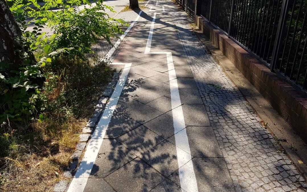 Zehlendorfs berühmtester Radweg kommt bis Montag weg