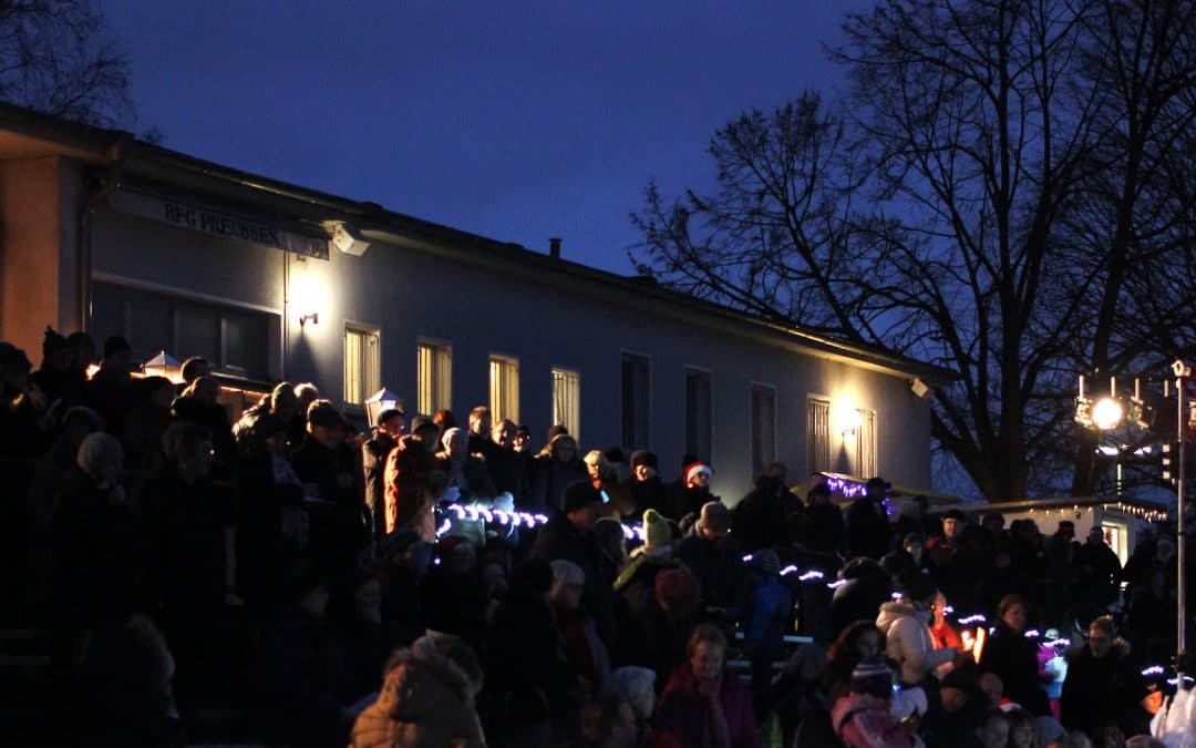 Adventssingen im Preussen-Stadion