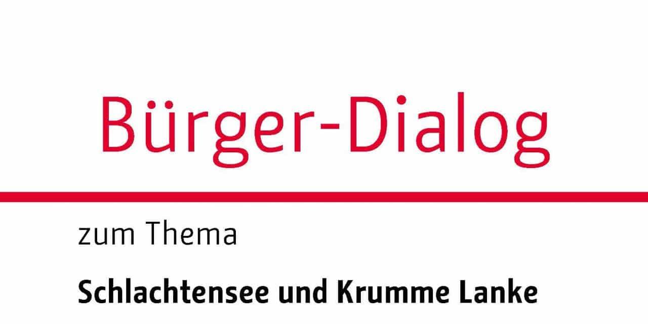 Bürger-Dialog zum Thema Schlachtensee und Krumme Lanke