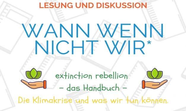 Diskutieren mit Extinction Rebellion im NBH Wannseebahn e.V.