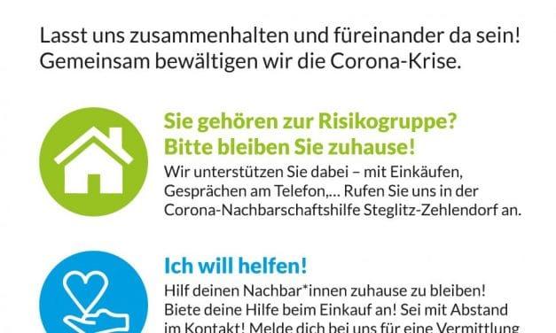 Corona: Nachbarn helfen Nachbarn