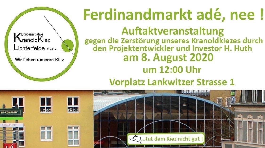"""Bürgerinitiative: """"Harald Huth zerstört den Ferdinandmarkt"""""""