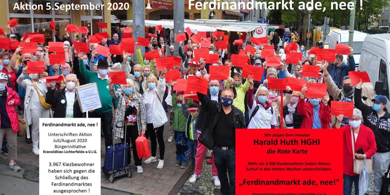 Ferdinandmarkt: 200 Bewohner zeigten H. Huth die rote Karte