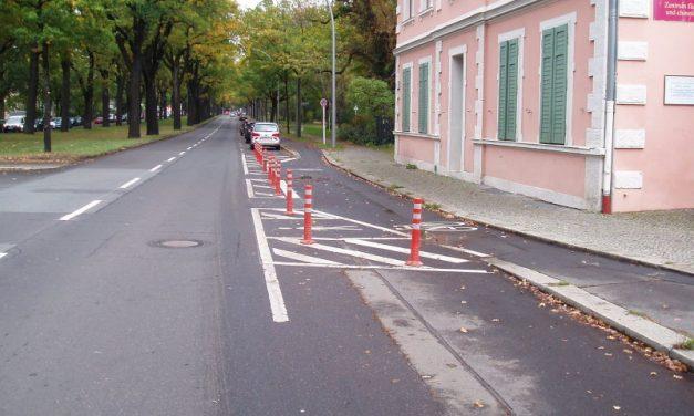 Querungshilfe und Radfahrstreifen auf der Potsdamer Chaussee umgesetzt