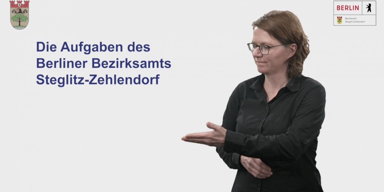 Gebärdensprache auf dem bezirklichen Internetauftritt von Steglitz-Zehlendorf
