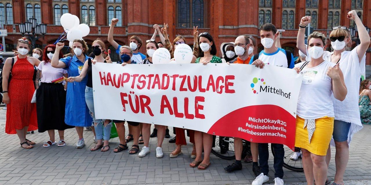 Protest gegen Lohnungerechtigkeit