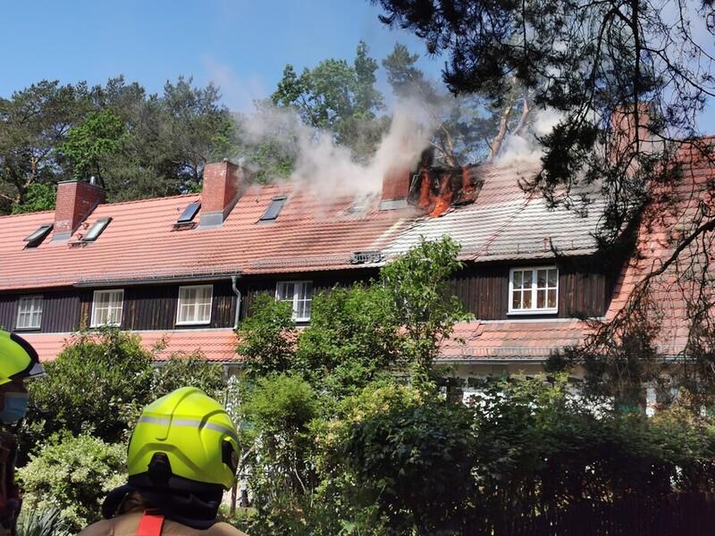 Brand in Zehlendorf
