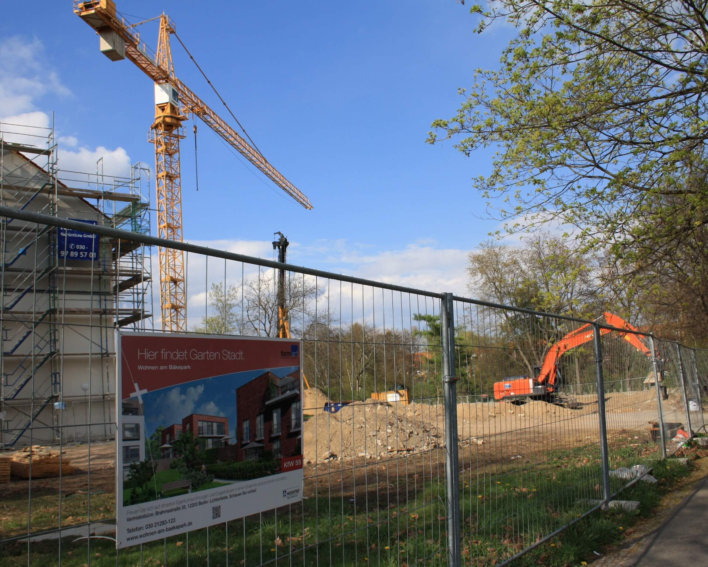 Arbeiten für Gartenstadt am Bäkepark haben begonnen