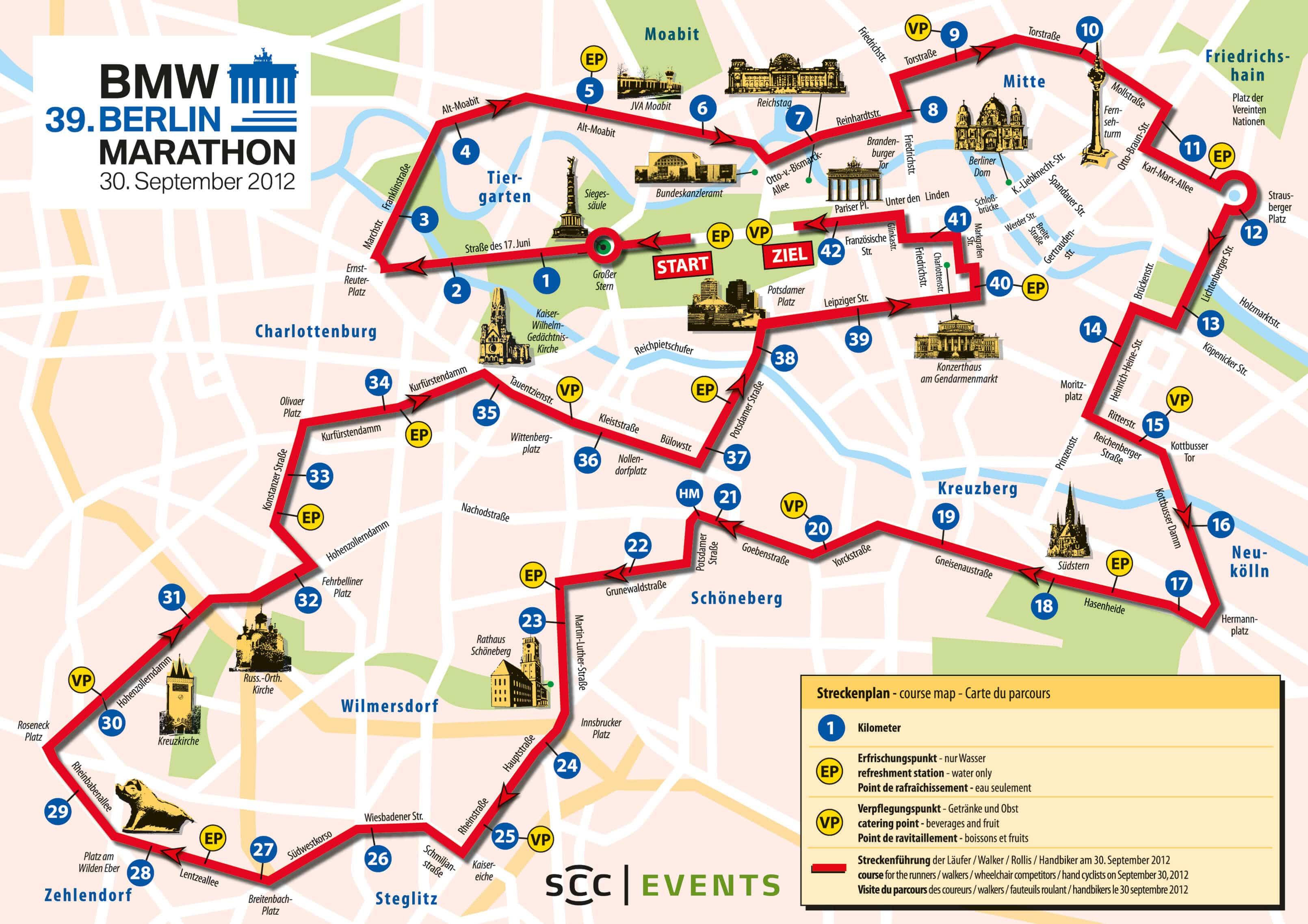 Straßensperrungen zum Marathon